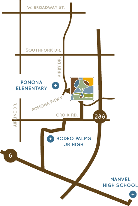 Pomona school map